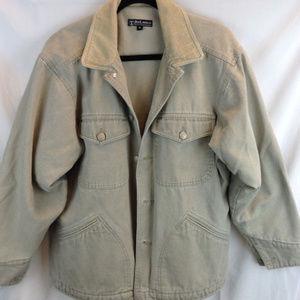 Other - Beige Jean Jacket Fleece Lined Size M